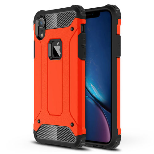 Military Defender Shockproof Armour Case for Apple iPhone Xr - Red